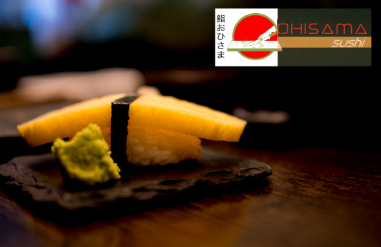 Ohisama Sushi review cover image of an egg sushi