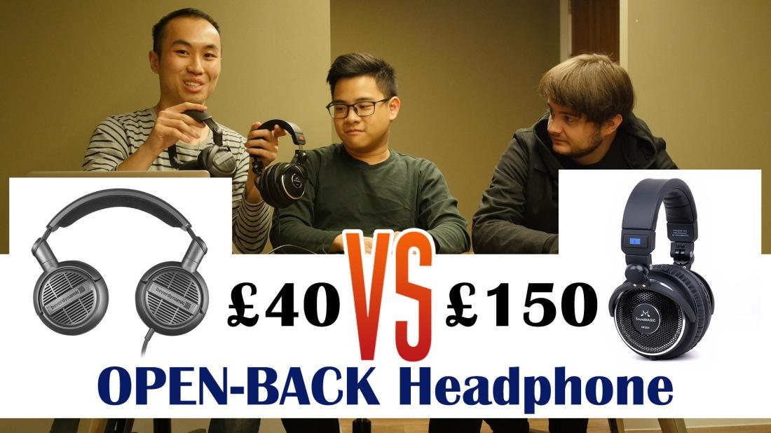 £40 vs £ 150 Open back headphone display pic