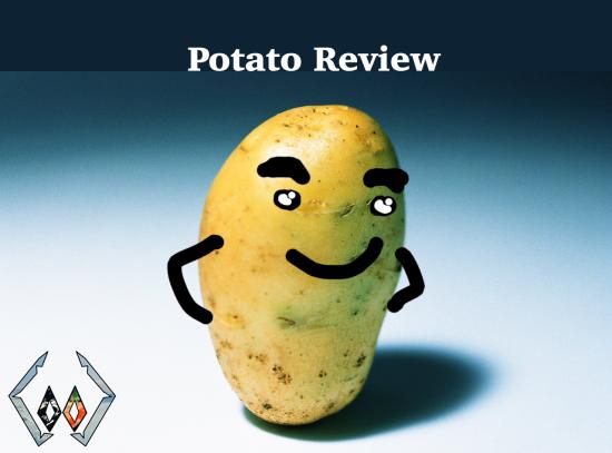 Potato Review cover page image potato smiling