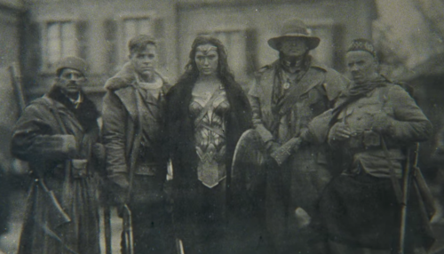 Wonder Woman 2017 movie screenshot of her past friends and lover